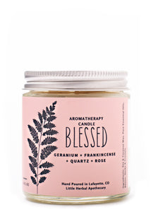 Blessed {Aromatherapy & Crystal Candle}
