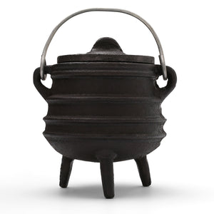 Cast Iron Smudge Pot with a Lid