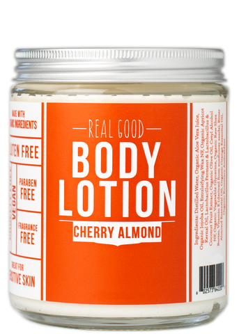 Real Good Body Lotion / Cherry Almond {new packaging!}