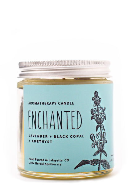Enchanted {Aromatherapy & Crystal Candle}