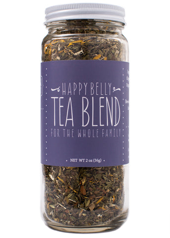 happy belly herbal tea blend for upset stomach and digestion