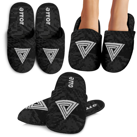 error logo branded slippers
