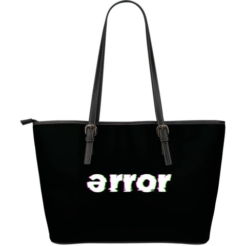 error leather bag logo