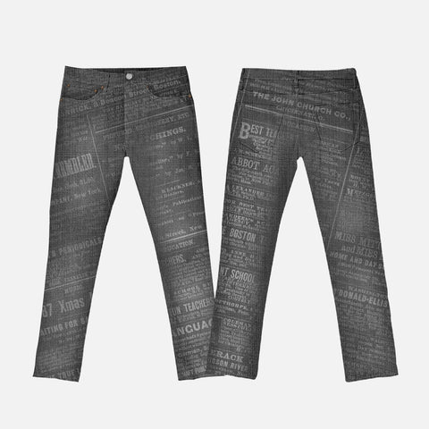 women black news press Jeans