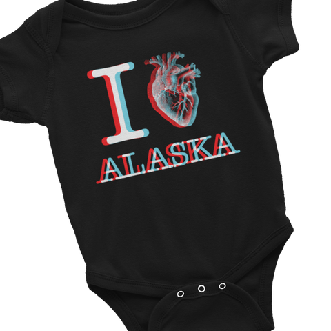 infant iHeart Onesie Dark
