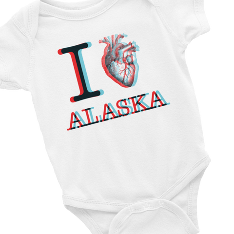 infant iHeart Onesie light