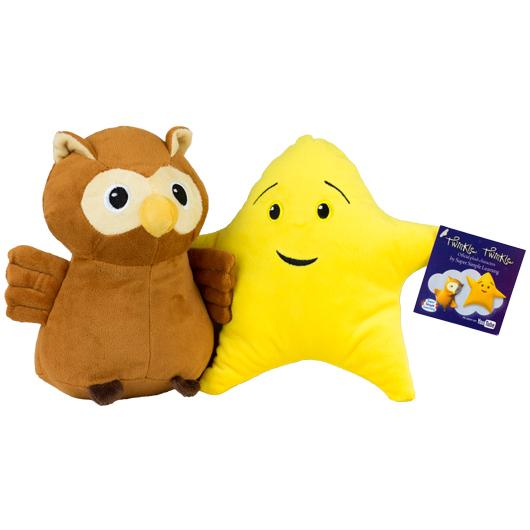 Twinkle Twinkle Official Plush - Lulu (Owl) & Juno (Star) - 2pc set - Super Simple
