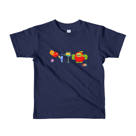 Apples and Bananas Monsters Kids T-Shirt - Super Simple
