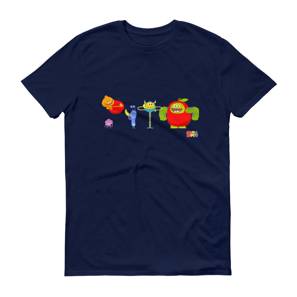 Apples and Bananas Monsters Adult Unisex T-Shirt - Super Simple