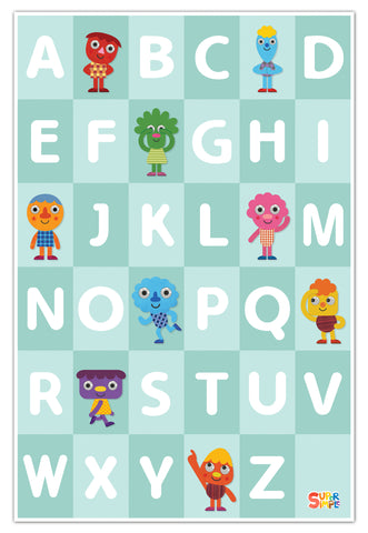 Noodle & Pals ABCs Print - Super Simple