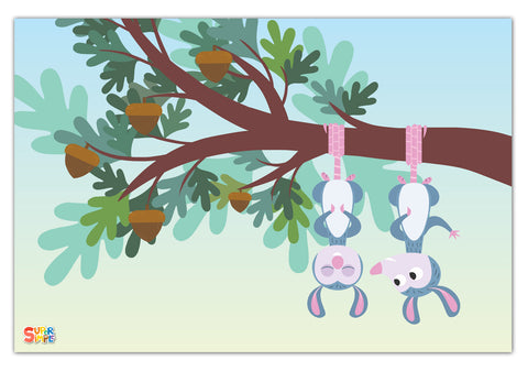 Treetop Family Possum Print - Super Simple