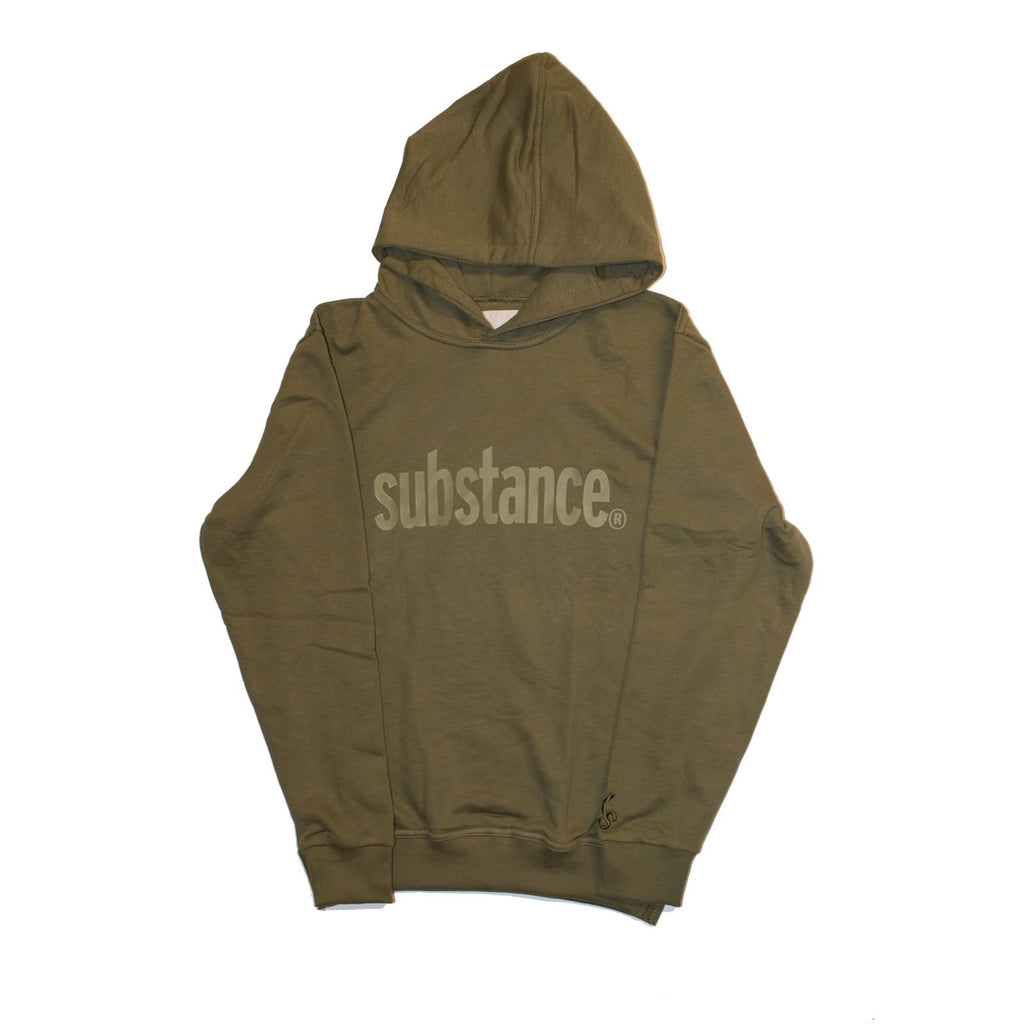 12 STEPS HOODIE OLIVE - KONTROLLED SUBSTANCE