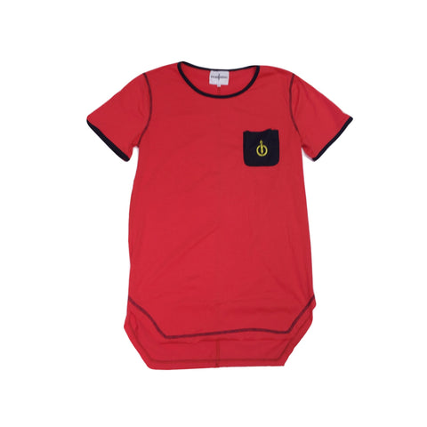 Torched Pocket Tee (Red) - KONTROLLED SUBSTANCE