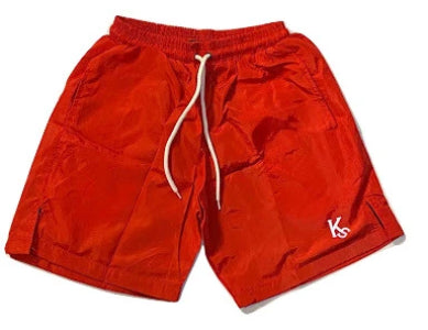 Stay Home Shorts Red