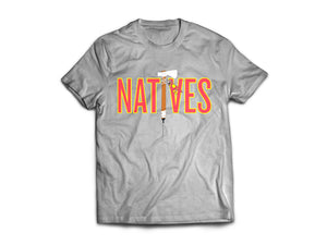 Natives Tee (Gray) - KONTROLLED SUBSTANCE