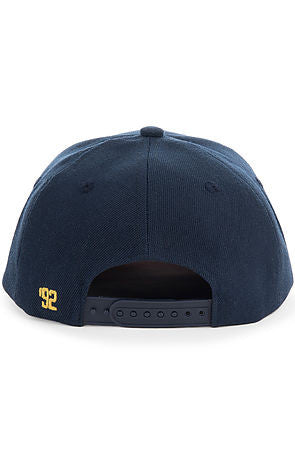 TORCHED NYLON SNAPBACK - NAVY - KONTROLLED SUBSTANCE
