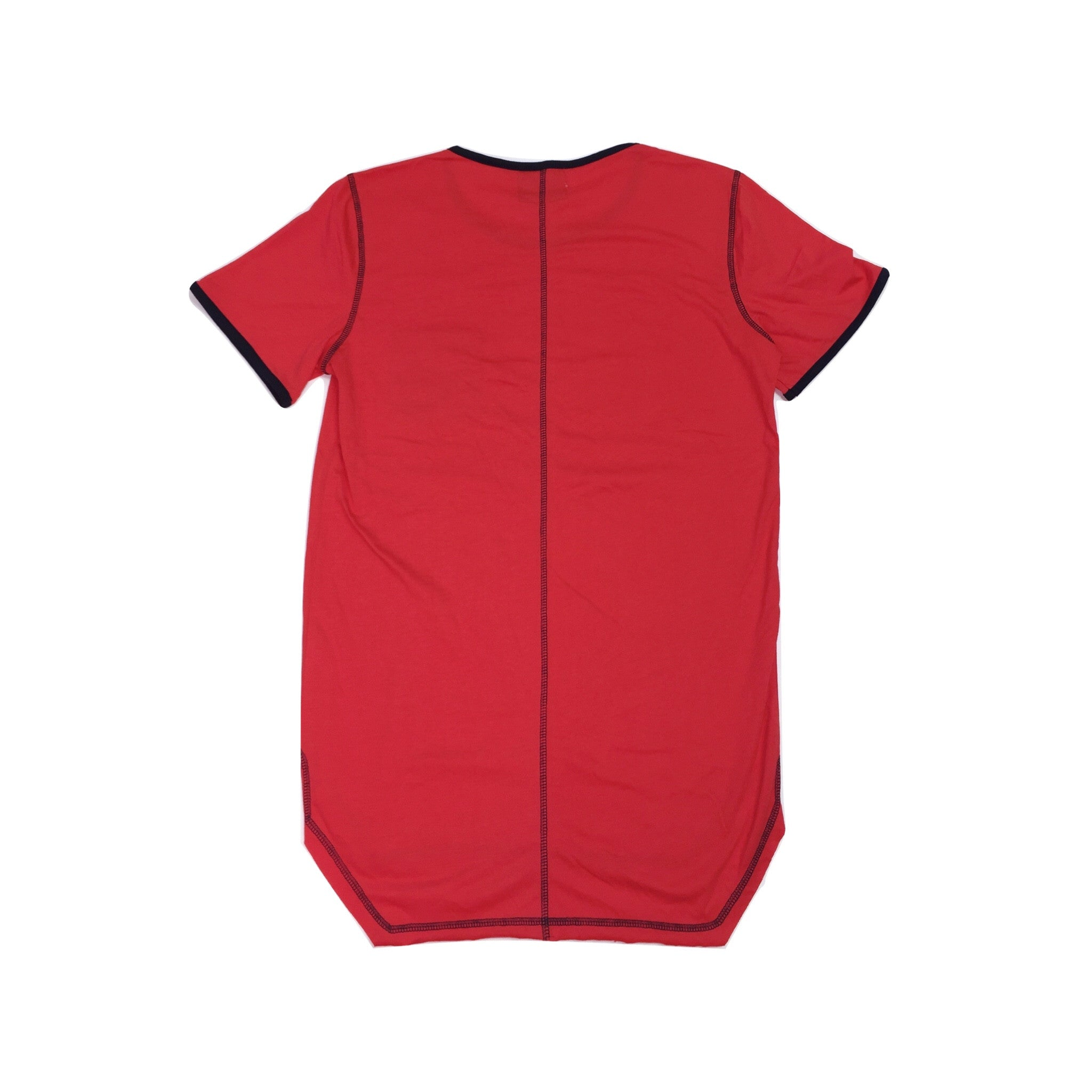 TORCHED POCKET TEE - RED - KONTROLLED SUBSTANCE