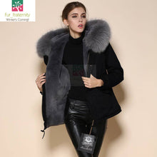 Mr & Mrs High Quality Black Grey Raccoon Fur Hood Parka NO CHEAP COPY