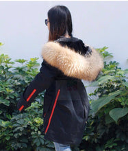 2018 UK Stock High Quality Original Raccoon Fur Big Hood Parka Military Coat Jacket