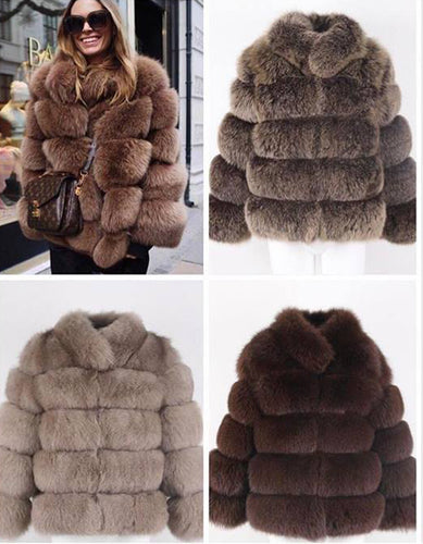 2018 COLLARED BEST PRICE BEST QUALITY FOX FUR WINTER THICK COAT GILLET VEST JACKET