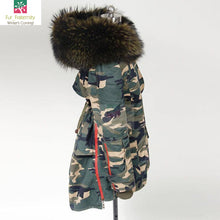 2017 UK Stock High Quality Fur Lined Original Raccoon Fur Big Hood Parka Military Coat Jacket
