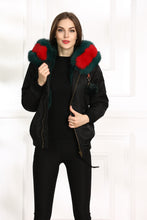 GUCCI STYLE LATEST 2018 SHORT FOX FUR COLLAR WITH FULL WARM LINING PARKA COAT BOMBER JACKET
