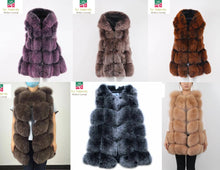 2018 Famous 6 Panels Best Price  New Natural Fox Fur long Vest Gillet Coat Winter For Women