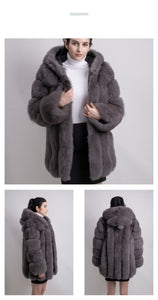 2018 All Colours New women Decent Price winter real fox fur coat jacket vest hot sale big fur long sleeve