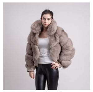 2018 FOX BEST PRICE BEST QUALITY FOX FUR WINTER THICK COAT GILLET VEST JACKET PURE LEATHER