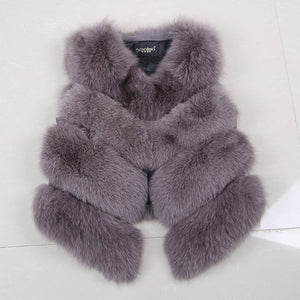 Best Value Famous Fox Fur 4 Bars Luxury Gilet/Vest Extremely High Quality
