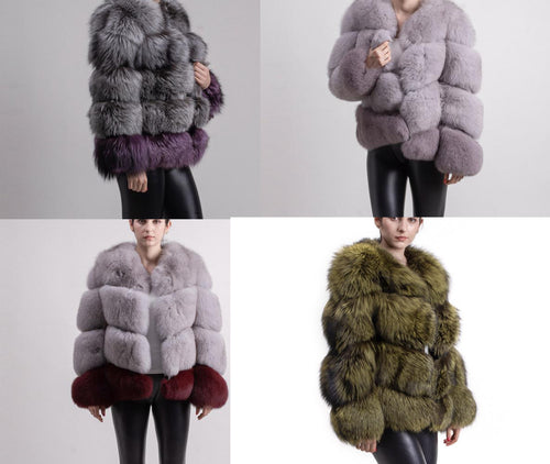 2018 SILVER FOX BEST PRICE BEST QUALITY FOX FUR WINTER THICK COAT GILLET VEST JACKET