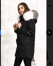 WATERPROOF STYLE  2018 MIDI FOX FUR COLLAR WITH FULL WARM LINING PARKA COAT BOMBER JACKET