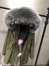 2019  High Quality Real raccoon fur Hood vest parka coat spring jacket Bomber