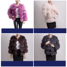 BRAND NEW 5 PANELS FOX FUR COAT JACKET VEST GILET ALL SIZES AND COLOURS