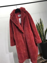 PINK JAVA QC1848 new arrival free shipping real sheep fur coat long style  camel teddy coat over size winter women coat