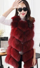 2019 HIGH QUALITY 6 PANELS FOX FOX FUR VEST COAT GILETS