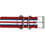 Weekender ™ Fairfield Correa Blanca / Azul / Rojo, 20mm