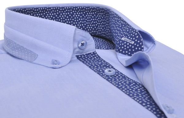 """Odéon"" in sky-blue Poplin"