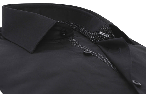 """Beaubourg"" in black Satin Cotton"