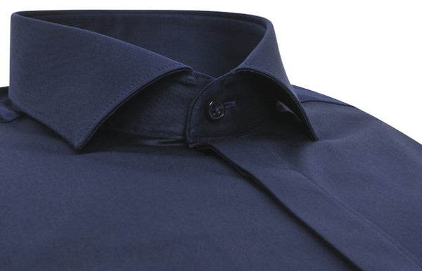 """Rivoli"" Slim Shirt in Navy blue"