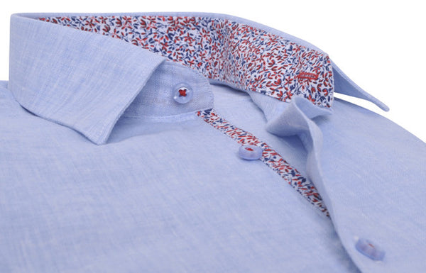 """Antibes"" in blue Linen"