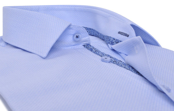 """Saint-Germain"" in blue sky Jacquard Poplin"