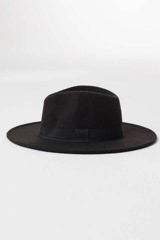 Black Wool Hat