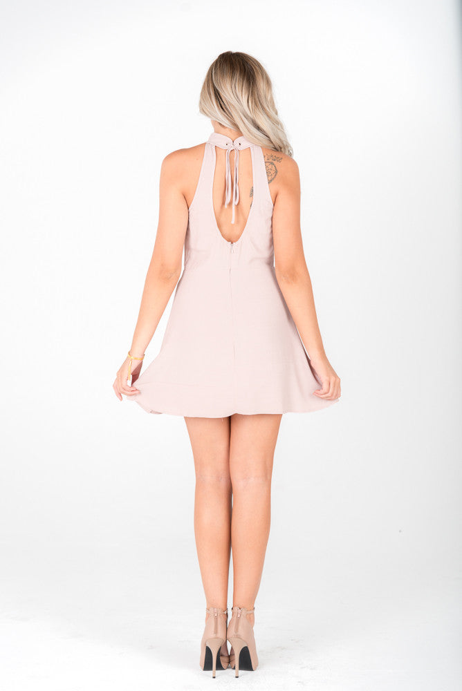 CAROL - Blush Open Back Dress