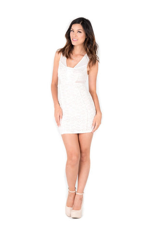 KAREN - Ivory Short Dress