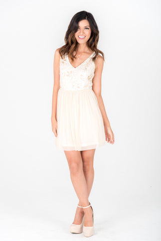 HAILEY - Ivory Short Dress