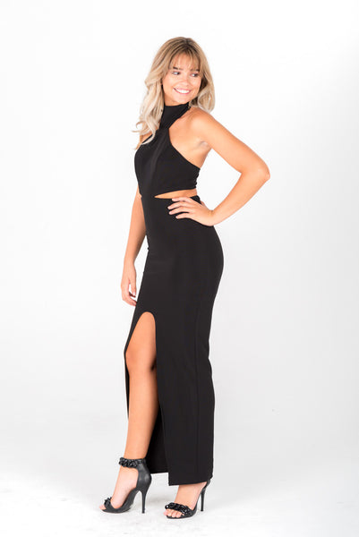 ANNABELLE - Black Cutout Gown
