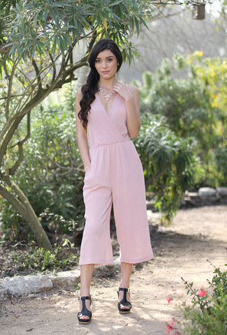 MARY - Pink Sleeveless Romper