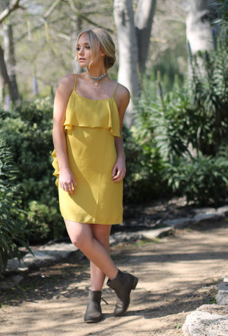 ANASTASIA - Yellow Ruffled Dress
