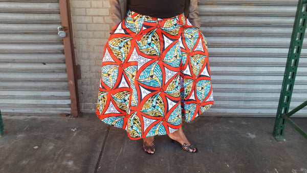The St. Lucian Collection - The Helen of the West Skirt - Full Length Panel, Midi Panel, Flare & Plus Sizes